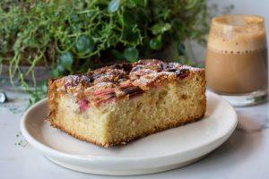 Rhubarb Snack Cake